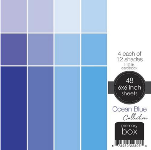 Memory Box 6x6 Cardstock Paper Pad: Ocean Blue