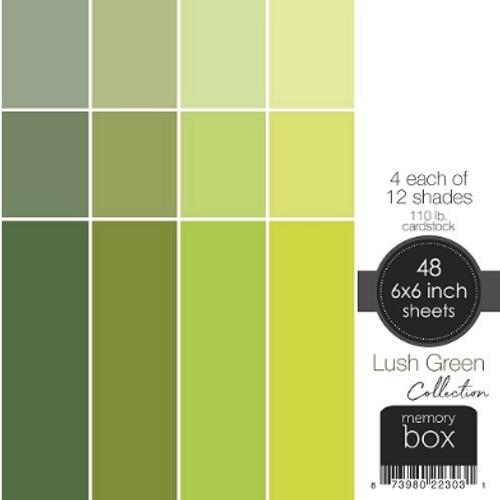 Memory Box 6x6 Cardstock Paper Pad: Lush Green