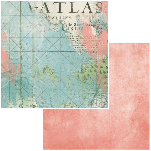 49 and Market Vintage Artistry 12x12 Paper: Anywhere | Atlas