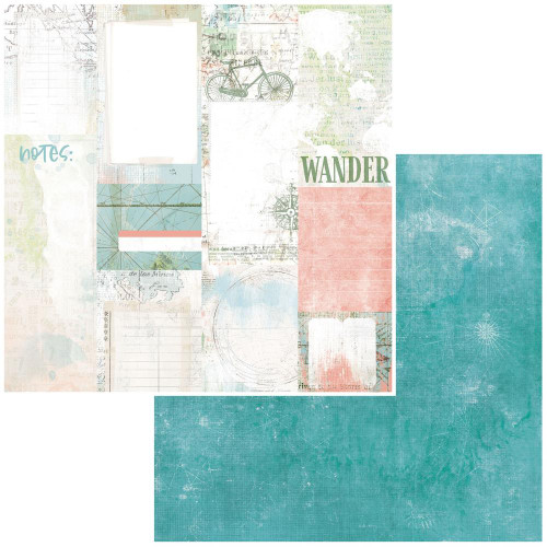 49 and Market Vintage Artistry 12x12 Paper: Anywhere | Journal Cards