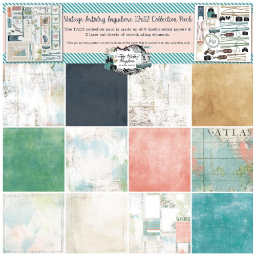 49 and Market Vintage Artistry 12x12 Collection Pack: Anywhere