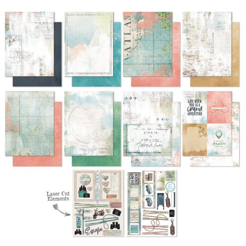 49 and Market Vintage Artistry 6x8 Paper Pad: Anywhere