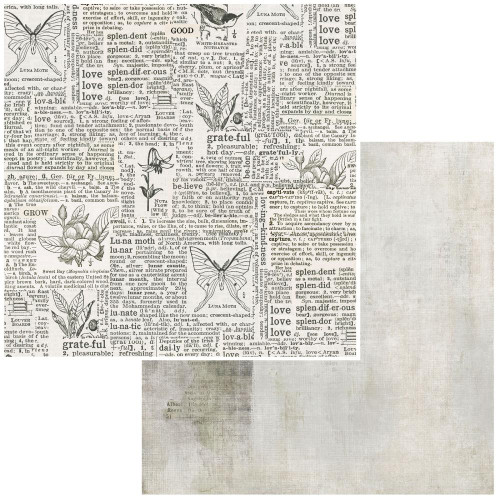 49 and Market Vintage Artistry 12x12 Paper: Essentials   Connotation