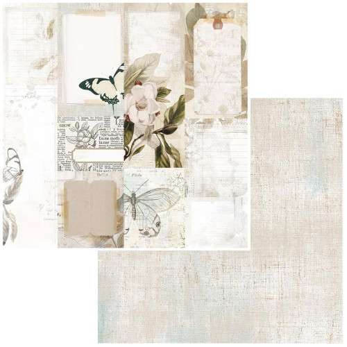 49 and Market Vintage Artistry 12x12 Paper: Essentials   Journal Cards