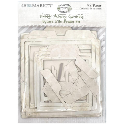49 and Market Vintage Artistry Square File Frame Set: Essentials