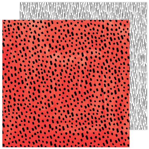 AC Amy Tangerine Brave & Bold 12x12 Paper: Brazen