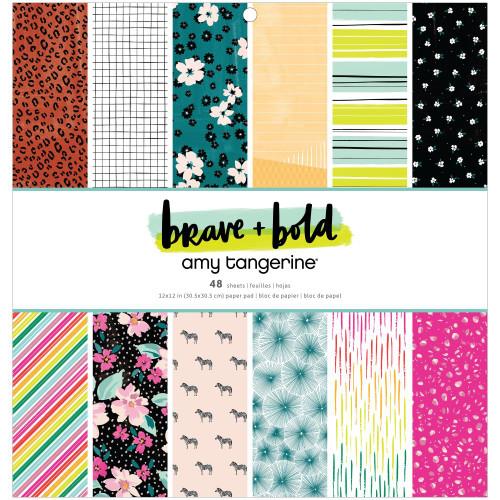 AC Amy Tangerine 12x12 Paper Pad: Brave & Bold