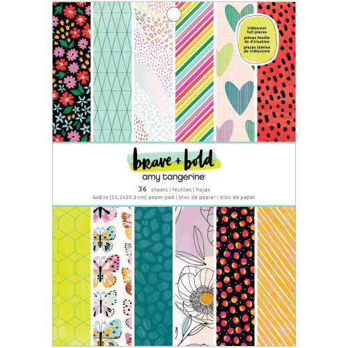 AC Amy Tangerine 6x8 Paper Pad: Brave & Bold