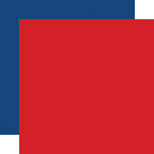 Carta Bella God Bless America 12x12 Paper: Red / Blue (Coordinating Solid)