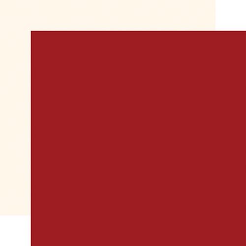 Carta Bella God Bless America 12x12 Paper: Dk. Red / Cream (Coordinating Solid)