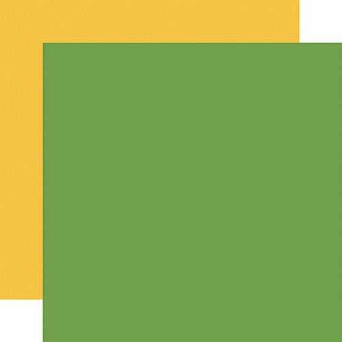 Echo Park I Love School 12x12 Paper: Green / Yellow (Coordinating Solid)