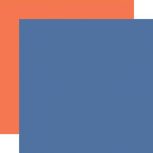 Echo Park I Love School 12x12 Paper: Blue / Orange (Coordinating Solid)