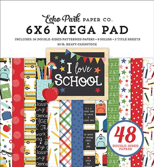 Echo Park I Love School 6x6 Mega Paper Pad