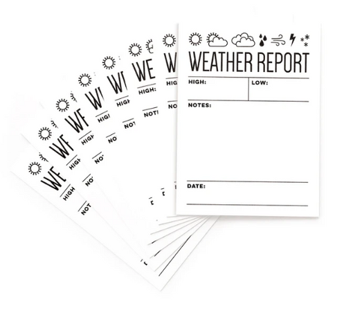Elle's Studio 3x4 Journaling Tags: Weather Report