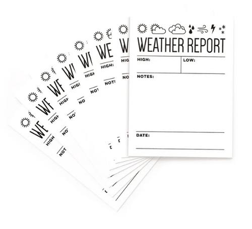 Elle's Studio Journaling Tags: Weather Report