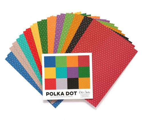 Elle's Studio 6x8.5 Paper Pad: Jewel Polka Dot