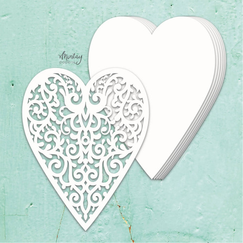 Mintay Papers Chippies Chipboard Album Base: Heart