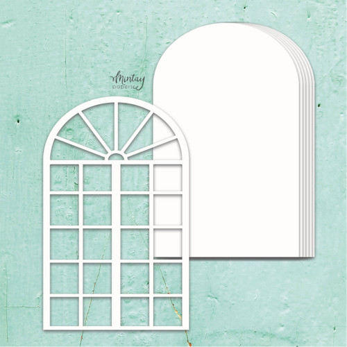 Mintay Papers Chippies Chipboard Album Base: Window
