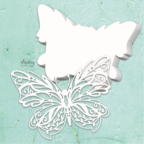Mintay Papers Chippies Chipboard Album Base: Butterfly