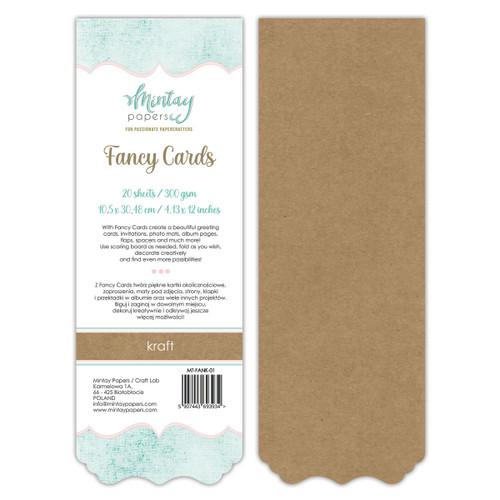 Mintay Fancy Card Pads: Kraft 01