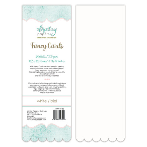 Mintay Fancy Card Pads: White 02