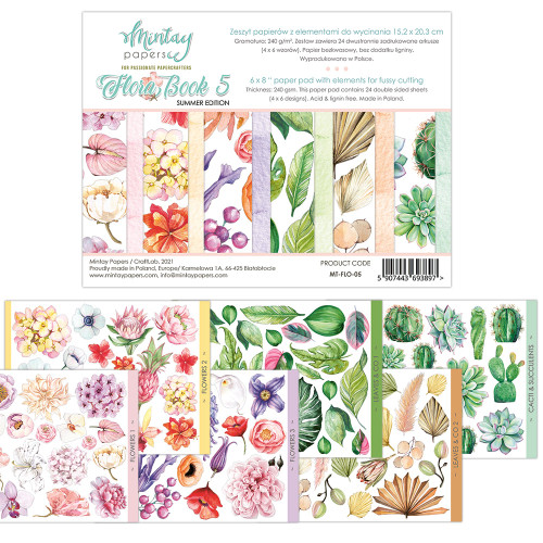 Mintay Papers Flora Book #5 6x8 Paper Pad