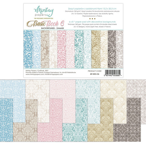 Mintay Papers Basic Book #6 6x8 Paper Pad