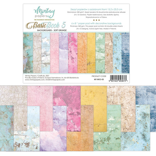 Mintay Papers Basic Book #5 6x8 Paper Pad