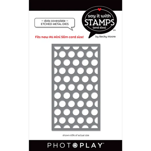 PhotoPlay Say It With Stamps: #6 Dots Coverplate Dies