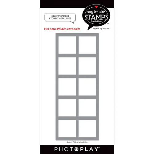 PhotoPlay Say It With Stamps: #9 Squares window Dies