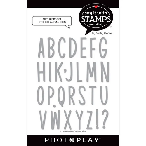 PhotoPlay Say It With Stamps: Slim Alphabet Dies