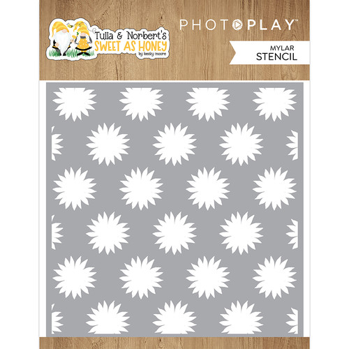 PhotoPlay Tulla & Norbert's Sweet As Honey 6x6 Stencil (3 Piece Layered Set)