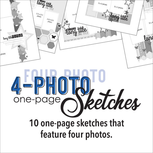 * DIGITAL DOWNLOAD * TEN SKETCHES - Four Photos | One Page Layouts