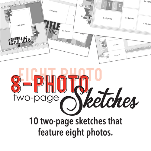 * DIGITAL DOWNLOAD * TEN SKETCHES - Eight Photos | Two Page Layouts