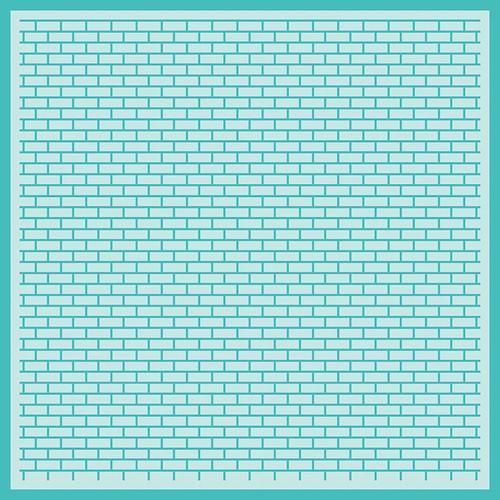 Honey Bee Stamps 6x6 Background Stencil: Perfect Bricks