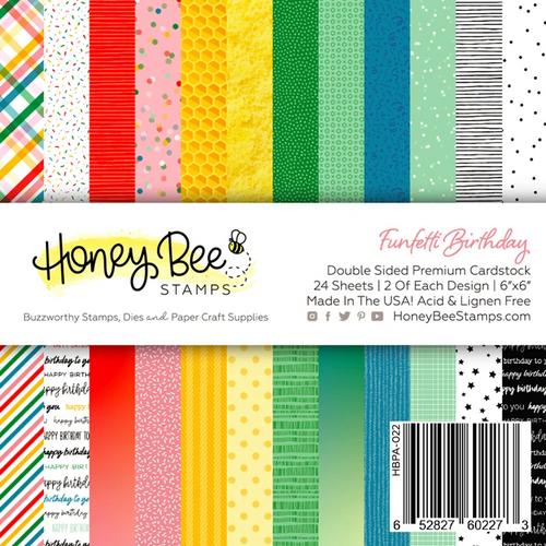 Honey Bee Stamps 6x6 Paper Pad: Funfetti Birthday