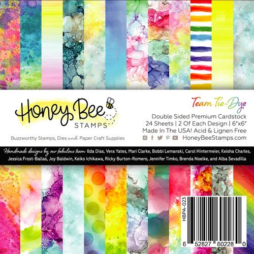 Honey Bee Stamps 6x6 Paper Pad: Team Tie-Dye