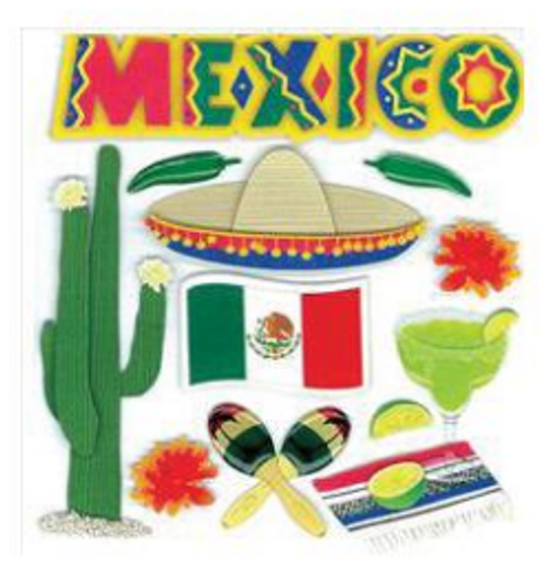 Jolee's Boutique Dimensional Stickers: Mexico