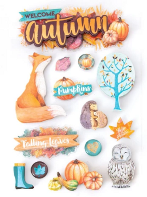 Paper House 3D Sticker: Welcome Autumn