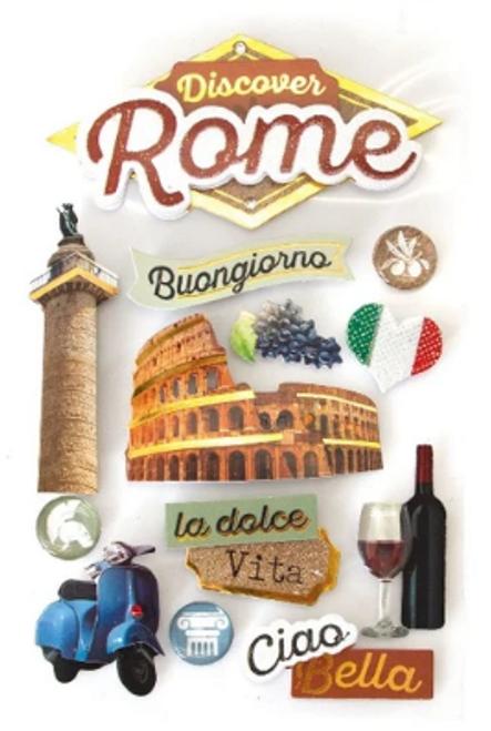 Paper House 3D Sticker: Rome