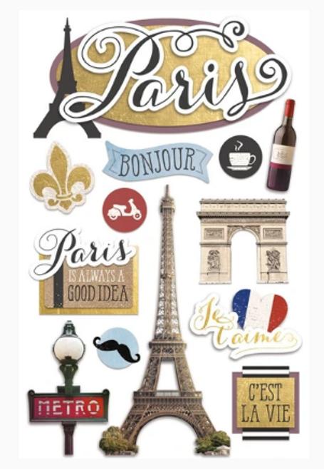 Paper House 3D Sticker: Paris Bonjour