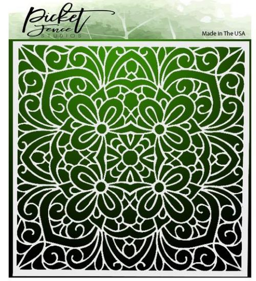 Picket Fence Studios 6x6 Stencil: Coloring Book