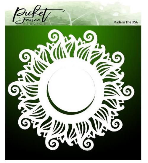Picket Fence Studios 6x6 Stencil: Wave Sun