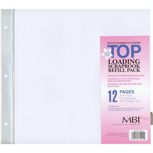 """MBI Page Protectors 12"""" x 12"""" (6/pkg)"""