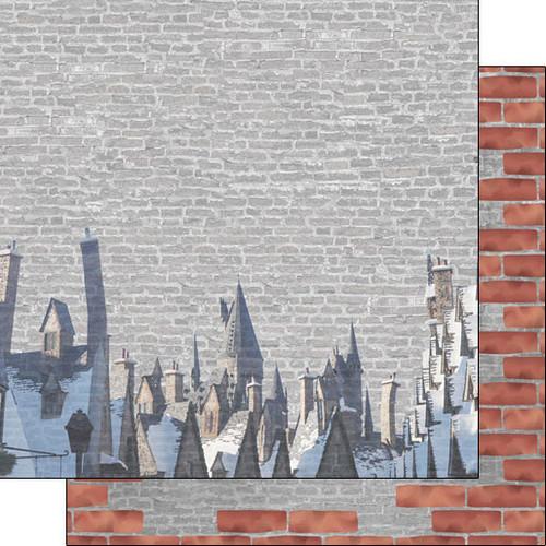 Scrapbook Customs 12x12 Wizard Themed Paper: Village