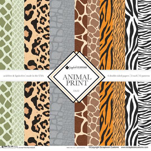 Scrapbook Customs Collection Pack: Animal Print