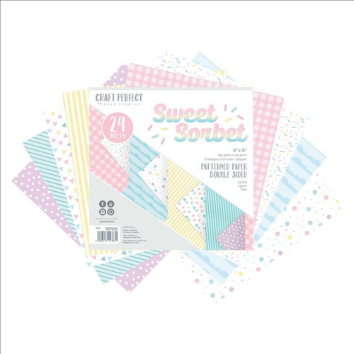 Craft Perfect 6x6 Mixed Card Pack: Sweet Sorbet