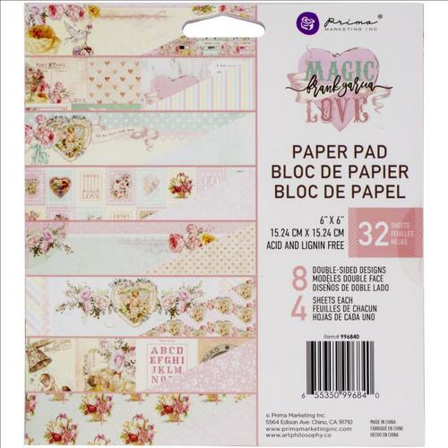 Prima Marketing 6x6 Paper Pad: Magic Love