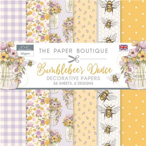The Paper Boutique 6x6 Paper Pad: Bumblebee's Dance