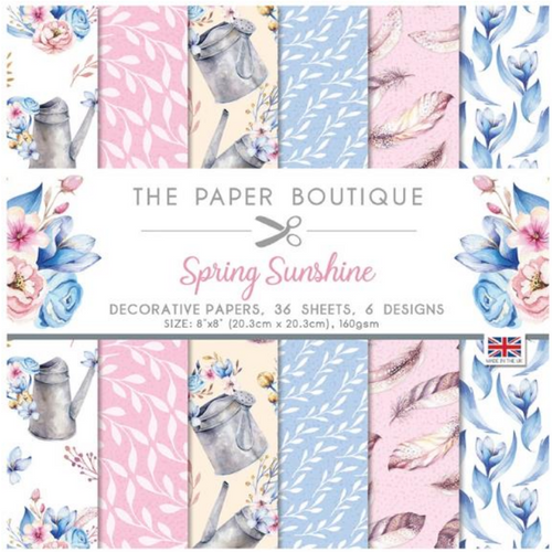 The Paper Boutique 8x8 Paper Pad: Spring Sunshine - Decorative Papers